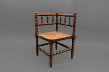 Load image into Gallery viewer, Sergeant Diana - Arts and Crafts Rush Seat Corner Chair