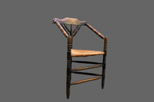 Load image into Gallery viewer, Sergeant Leslie - Arts and Crafts Rush Seat Corner Chair