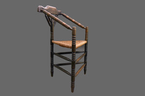 Sergeant Leslie - Arts and Crafts Rush Seat Corner Chair