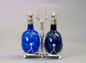 The Stripper Aston - Bristol Blue Decanter Set with Stand