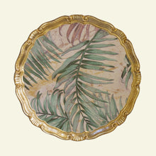 Load image into Gallery viewer, The Tattooist Lore - Gold Palm Leaf Pattern Florentine Tray