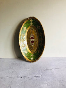 The Tattooist Jose - Antique Florentine Papier Mache  Bowl