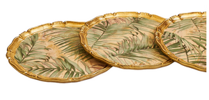 The Tattooist Lore - Gold Palm Leaf Pattern Florentine Tray