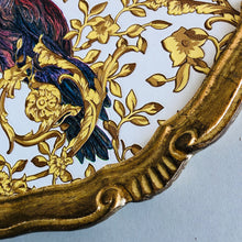 Load image into Gallery viewer, The Tattooist Tam - Gold Parrot Pattern Florentine Tray