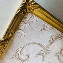 Load image into Gallery viewer, Tattooist Toby - Gold & White Vine Leaf Pattern Florentine Tray