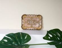 Load image into Gallery viewer, The Tattooist Andre- Pink and Gold Small Papier Mache Tray