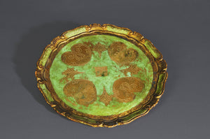 The Tattooist Cullen - Round Victorian Papier Mache Tray