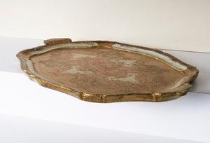 The Tattooist Hazel - Gold Paper Mache Tray