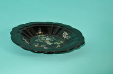 Load image into Gallery viewer, The Tattooist Leslie - Antique Black Lacquer Paper Mache Bowl