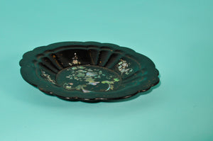 The Tattooist Leslie - Antique Black Lacquer Paper Mache Bowl