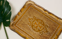 Load image into Gallery viewer, The Tattooist Mary - Large Gold  Papier Mache Tray