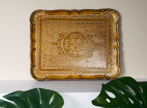 The Tattooist Mary - Large Gold  Papier Mache Tray