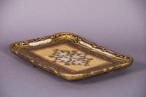 The Tattooist Michael - Gold Small Rectangle Florentine Tray