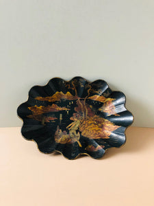 The Tattooist Scott - Antique Papier Mache Lacquer Chinoiserie Bowl