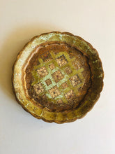 Load image into Gallery viewer, The Tattooist Shannon - Small Rustic Green Florentine Tray