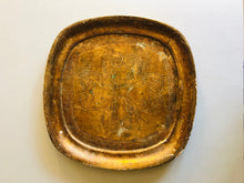 Load image into Gallery viewer, The Tattooist Zhora - Gold Small Square Florentine Tray