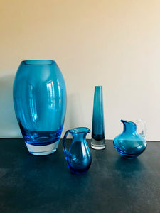 The Stripper William - Vintage Blue Glass Vase