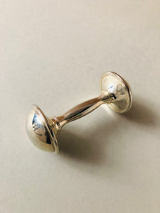 The Director Perry - Vintage Silver Baby Rattle
