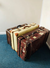 Load image into Gallery viewer, The Goth Brian - Vintage Shabby Chic Suitcase