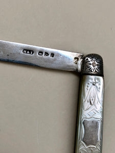The Headhunter Lance - Antique Silver Fold Fruit Knife 1898