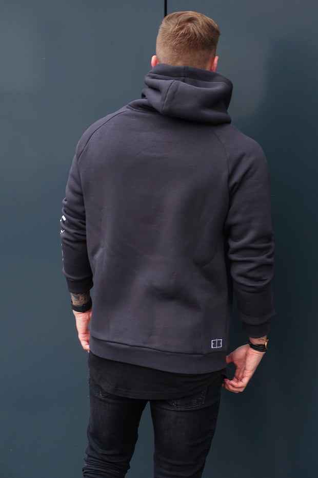 "ANTHRACITE ""FINEST LIFESTYLE"" HOODIE"
