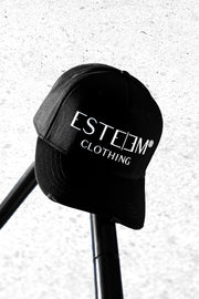 "BLACK ""ESTEEM CLOTHING"" BASECAP"