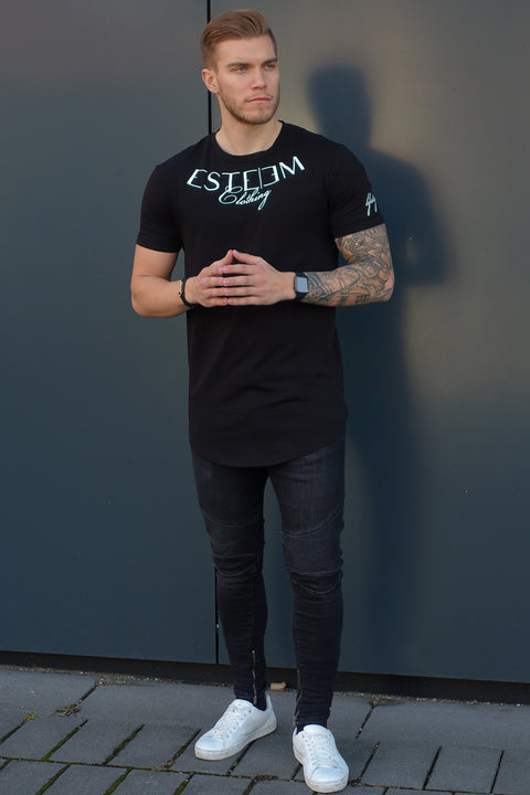 "BLACK ""ESTEEM CLOTHING"" TEE"
