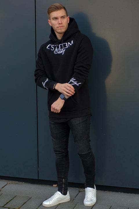 "BLACK ""ESTEEM CLOTHING"" HOODIE"