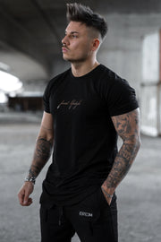 "BLACK ""FINEST LIFESTYLE"" TEE"