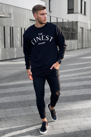 "BLACK ""THE FINEST"" SWEATER"
