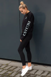 BLACK ZIP SWEATER