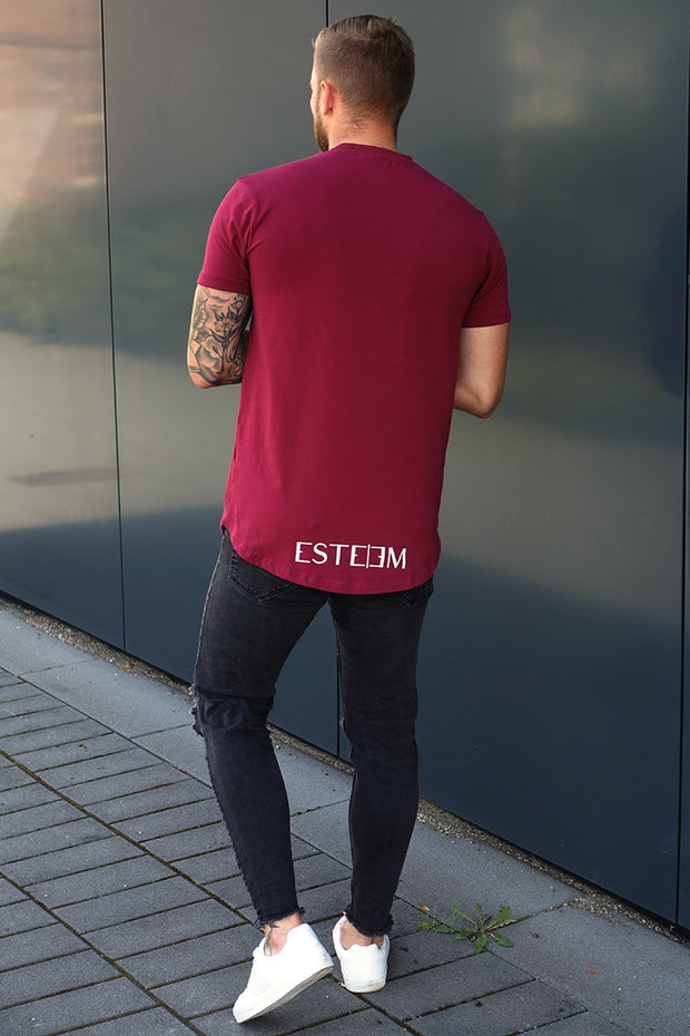 "BURGUNDY ""FINEST LIFESTYLE"" TEE"