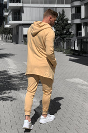 CAMEL PATCH CARDIGAN