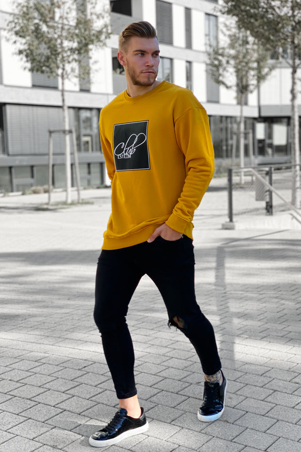 "DARK YELLOW ""ESTEEM CLUB"" SWEATER"