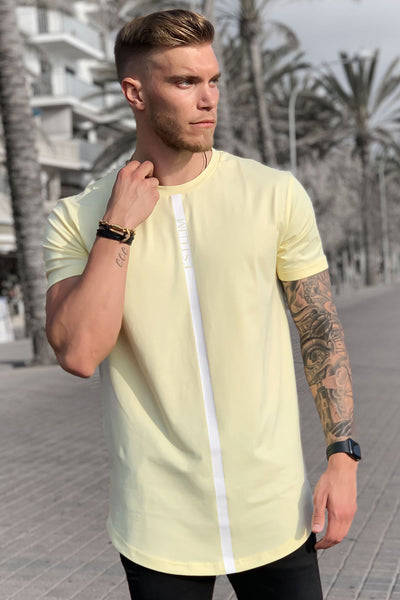 LIGHT YELLOW STRIPE TEE