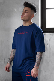 NAVY SIGNATURE HEAVY OVERSIZED TEE