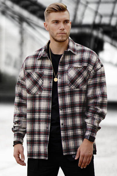 OFFWHITE FLANNEL OVERSIZED SHIRT