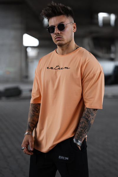 PEACH SIGNATURE HEAVY OVERSIZED TEE