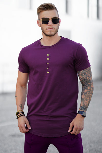 PURPLE VERTICAL TEE