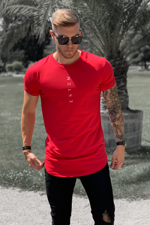 RED VERTICAL TEE