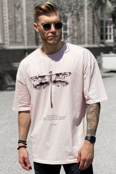 ROSÉ DRAGONFLY HEAVY OVERSIZED TEE