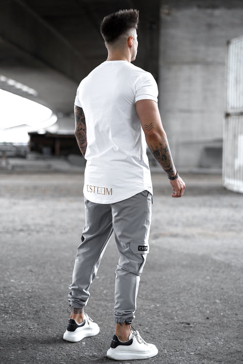"WHITE ""FINEST LIFESTYLE"" TEE"
