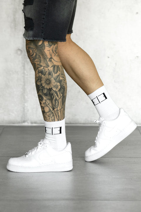 WHITE LOGO SOCKS
