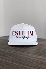 "WHITE ""FINEST LIFESTYLE"" SNAPBACK"