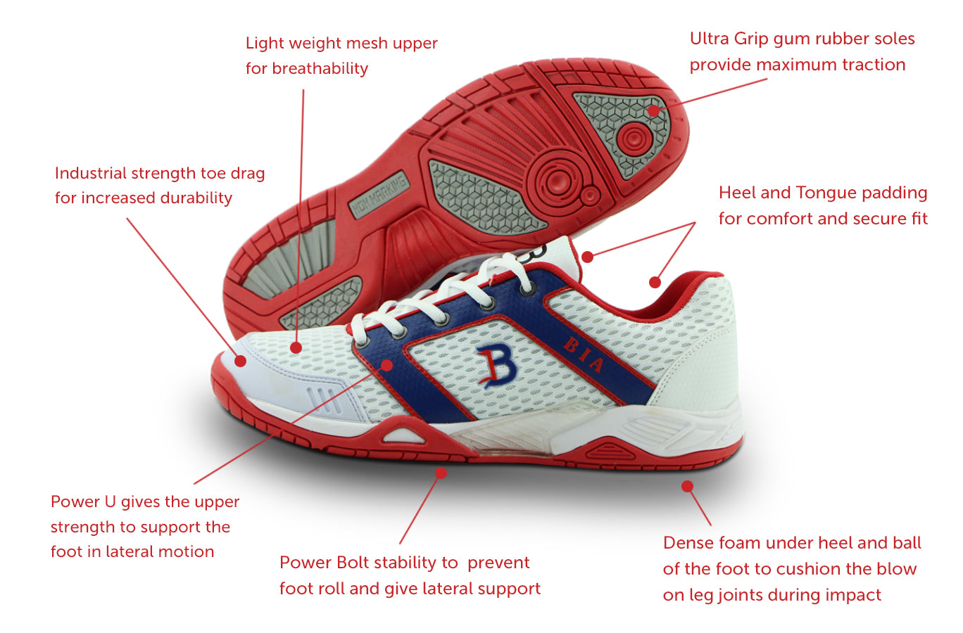 BIA Force professional squash shoe