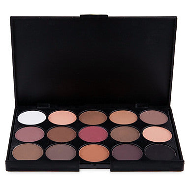 15pcs Eye / Face Combination / Dry / Normal Shadow Powder Daily Makeup / Halloween Makeup / Party Makeup / Matte / Shimmer