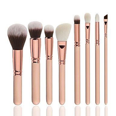 8pcs Makeup Brushes Professional Makeup Brush Set Nylon / Synthetic Hair Soft / Full Coverage Wooden
