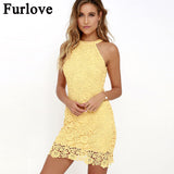 Furlove 2017 Summer Brazil Dress Bodycon Dresses Women Sleeveless Summer Dresses Short robe femme ete 2017 vestidos plus size