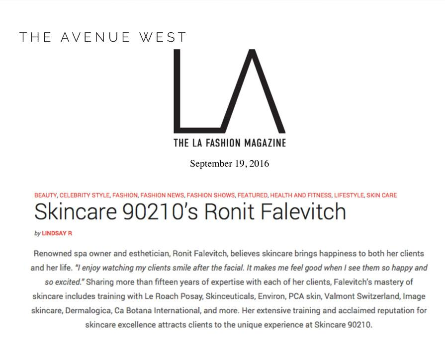Skincare 90210's Ronit Falevitch