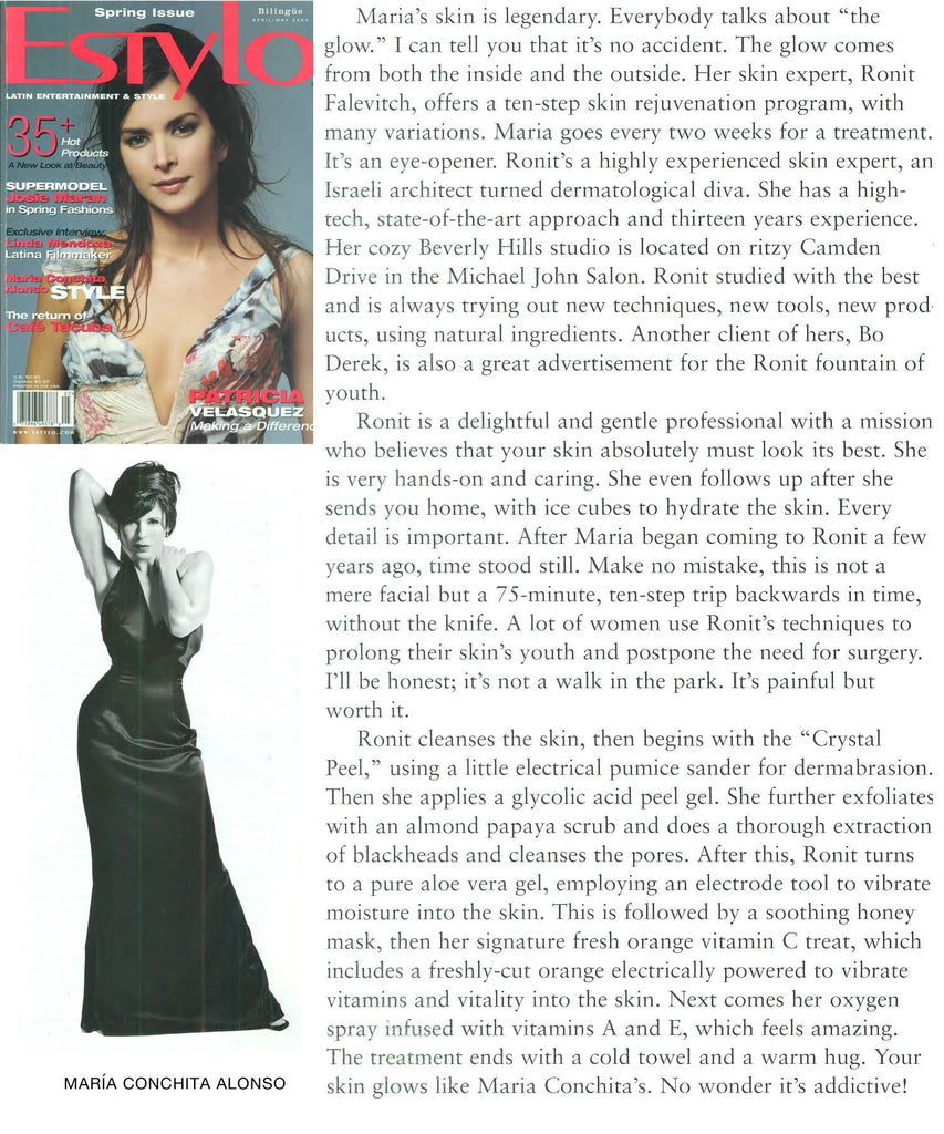 ESTYLO MAGAZINE - MARÍA CONCHITA ALONSO